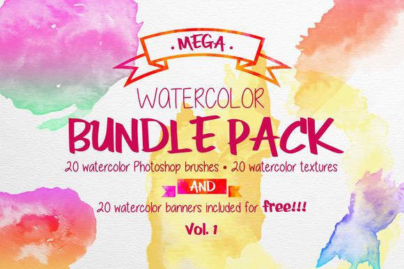 Mega Watercolor Bundle Pack Vol 1