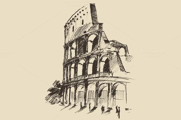 Coliseum Illustration Rome