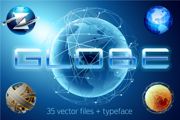 Globe Vector Bundle 35 Alphabet