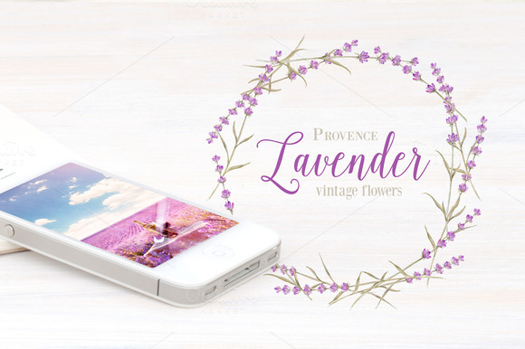 Label With Lavender Flowers