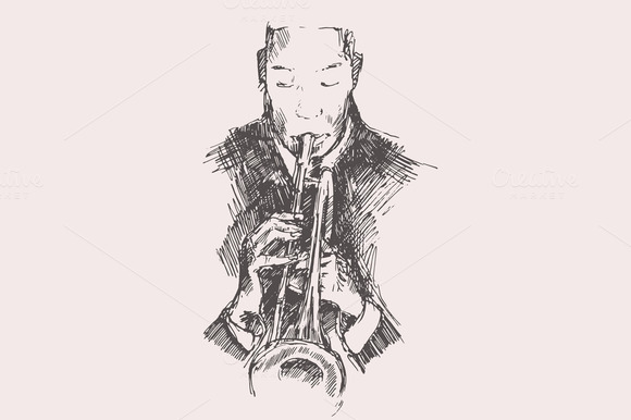 Man Playing The Trumpet