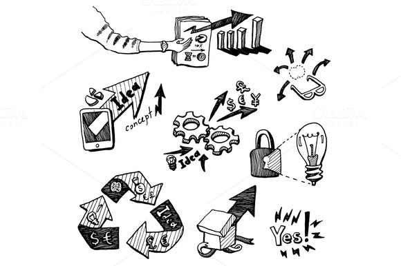 Start Up Business Concept Icons Set