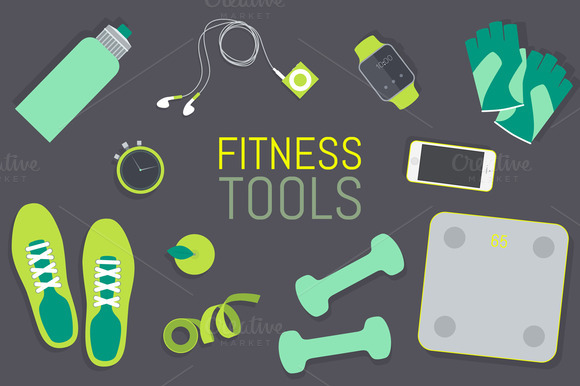 Set Of Fitness Tools