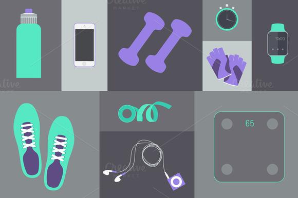 Set Of Fitness Tools
