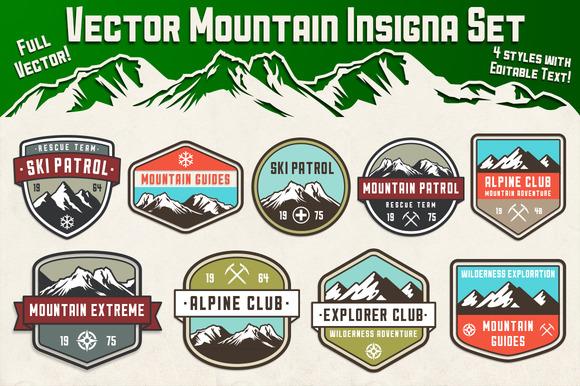 Vector Mountain Insignia Set
