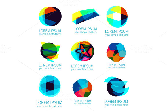 Set Of Different Abstract Logotypes