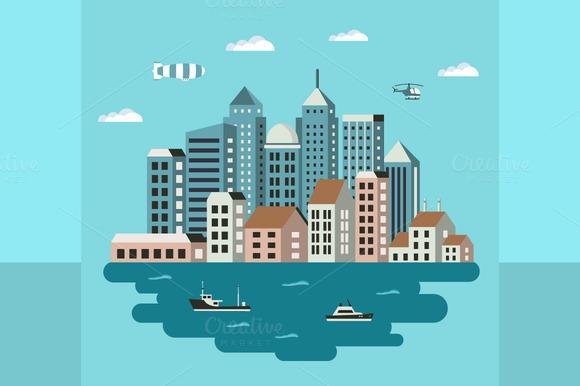 City Flat Illustration