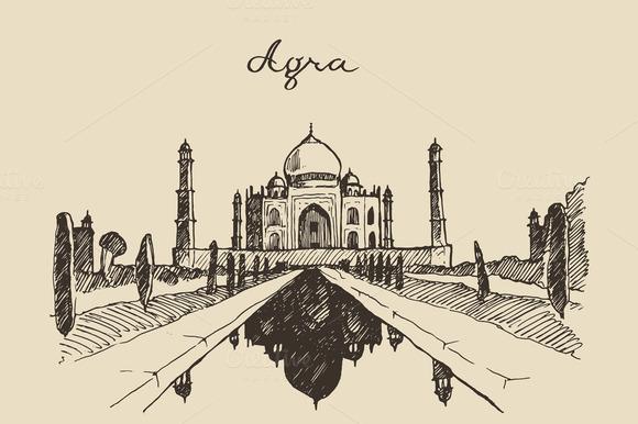 The Taj Mahal Located In Agra