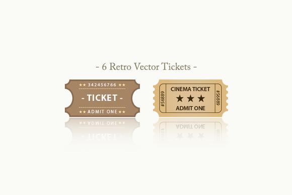 Retro Vector Tickets