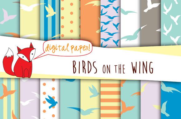 Birds Digital Paper Pack