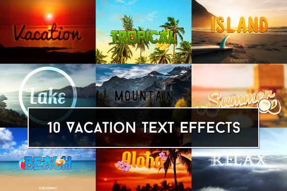 Vacation Text Effects