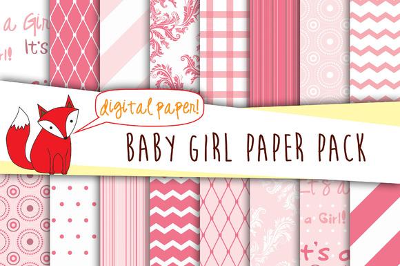 Baby Girl Digital Paper