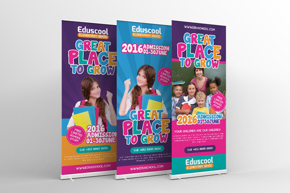Elementary School Roll-Up Banner