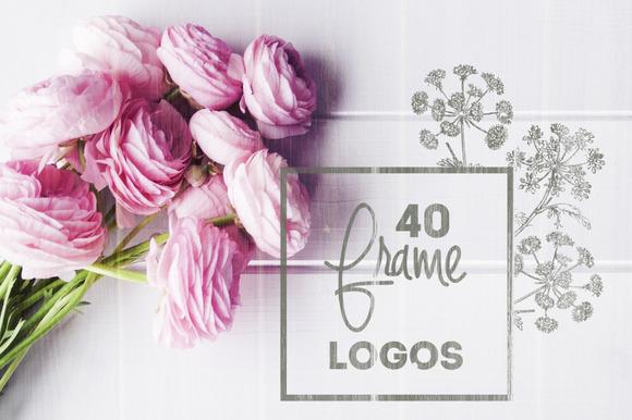 40 Vintage Frame Logos