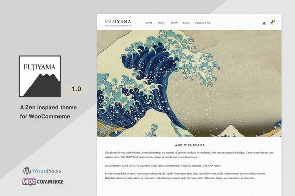 Fujiyama Simple WooCoomerce Theme