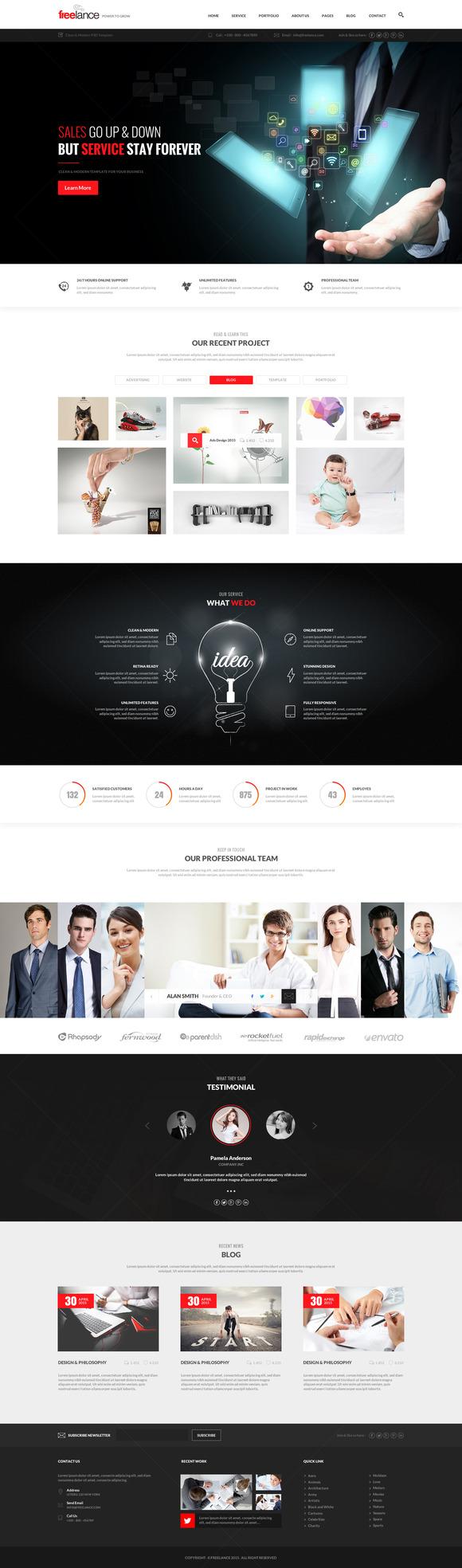 Freelance Business PSD Template