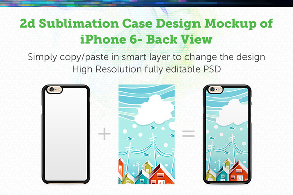 IPhone 6 2d Sublimation Mock-up