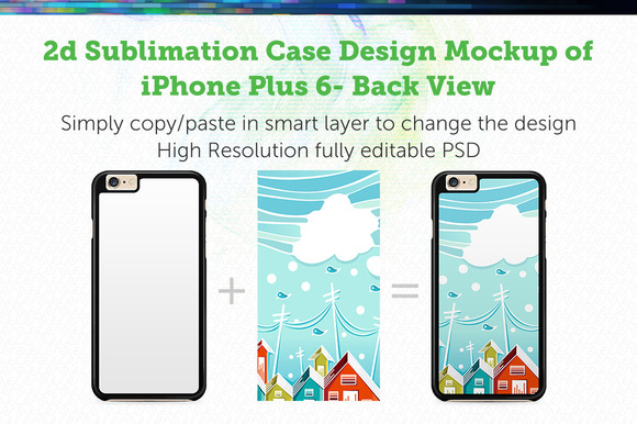 IPhone 6 Plus 2d Sublimation Mock-up