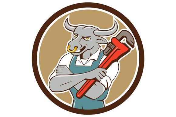 Bull Plumber Wrench Standing Circle