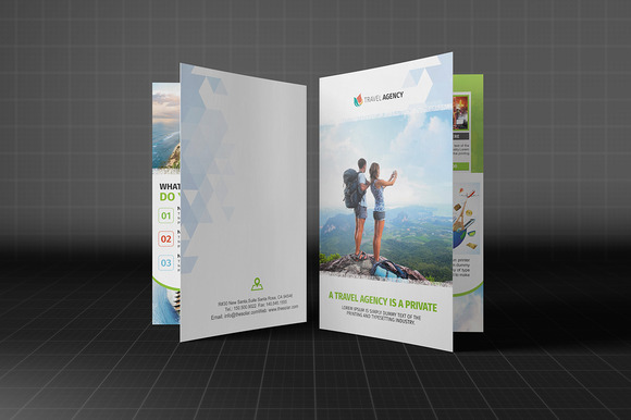 Holiday Travel Agency Bifold Brochur
