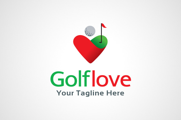 Golf Love Logo Template