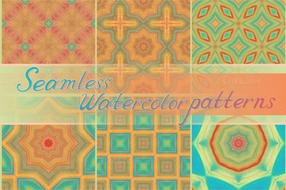 20 Seamless Watercolor Patterns