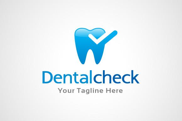 Dental Check Logo Template