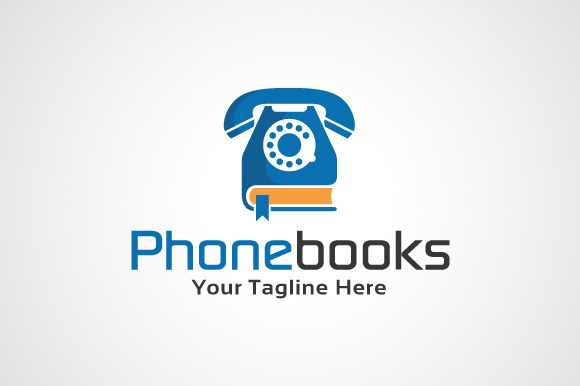 Phone Books Logo Template