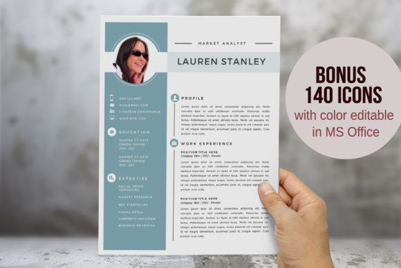 Elegant 2 In 1 Word Resume Template