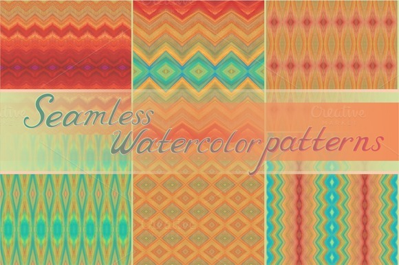 18 Seamless Watercolor Patterns