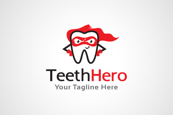 Teeth Hero Dental Logo Template
