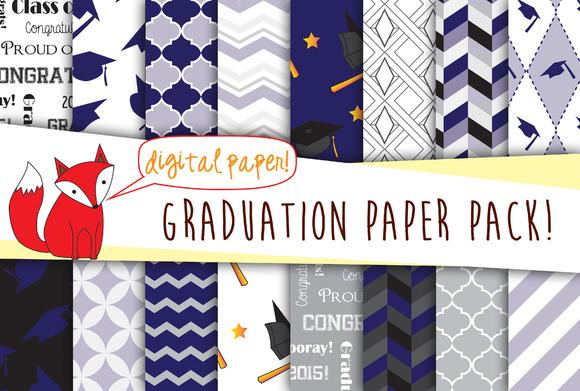 Graduation Digital Paper Pack