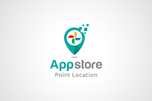 App Store Point Logo Template
