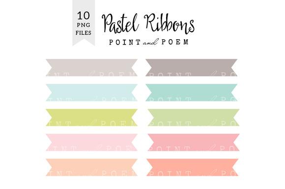 Pastel Ribbon Clipart