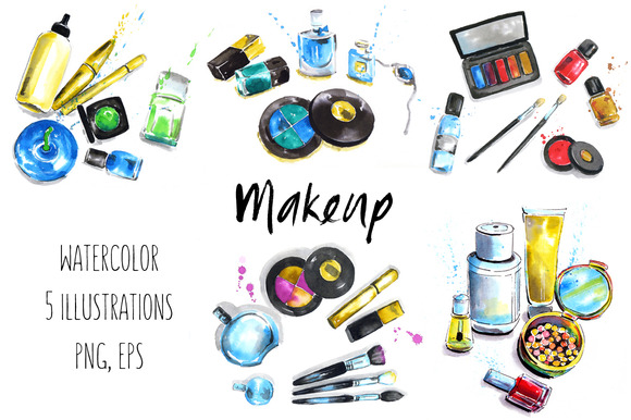 Makeup Cosmetics Illustrations
