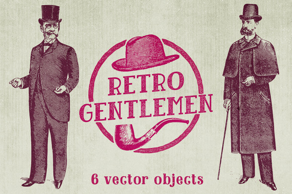 Retro Gentlemen Vector Pack