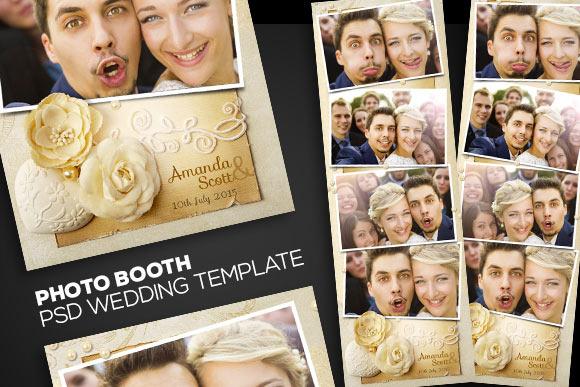 PhotoBooth PSD Wedding Template