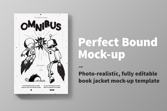 Perfect Bound Book Mock-up