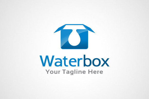 Water Box Logo Template