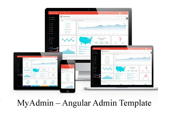 MyAdmin Angular Admin Template