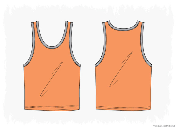 Men Ringer Tank Vector Apparel