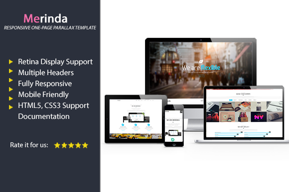 Merinda One Page Parallax Template