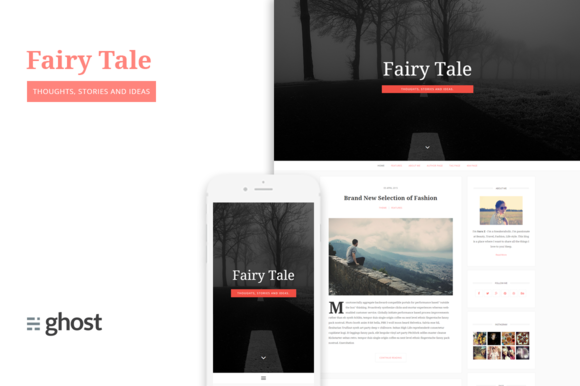 Fairytale Blogging Theme For Ghost