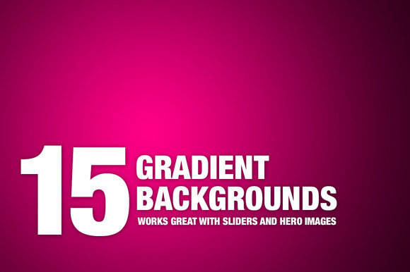 15x3 Beautiful Gradient Backgrounds