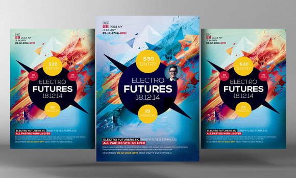 Electro Future Flyer Template