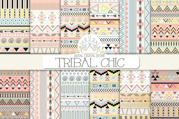 TRIBAL CHIC Digital Paper