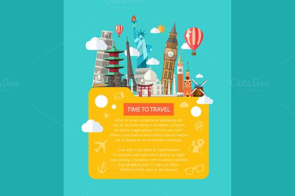 Famous Landmarks Postcard