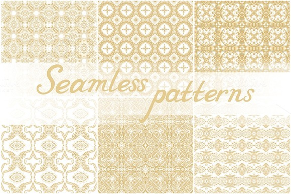 Set Of 26 Seamless Laced Patterns