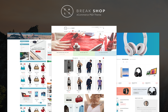 Break Shop ECommerce PSD Theme