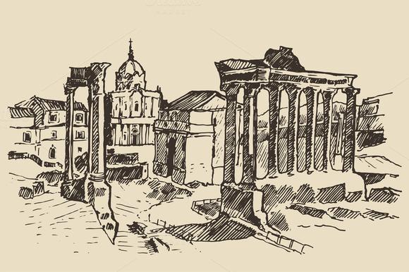 Roman Forum Ruins In Rome